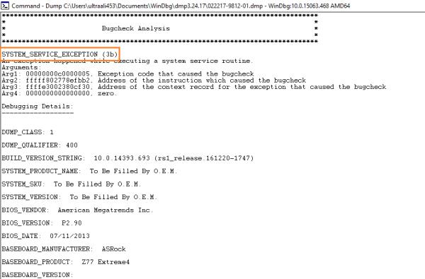 Файлы дампа - WinDbg - 6 - Windows Wally