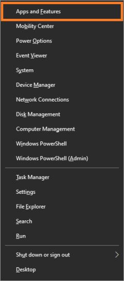 Outlook - Windows 10 - WindowsKey + X - Приложения и функции - Windows Wally