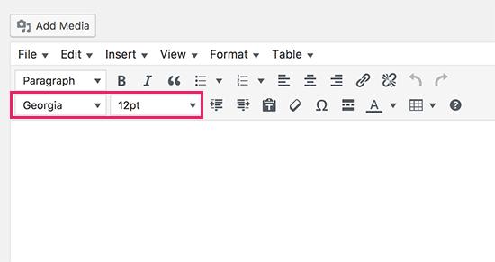 Cỡ chữ TinyMCE