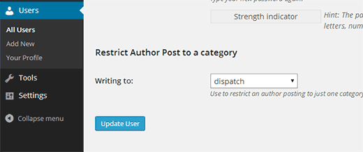 Restricting an author to a category Restrict Authors to Specific Category in WordPress