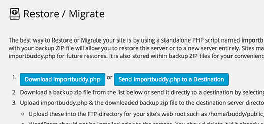 Download importbuddy.php file to your computer