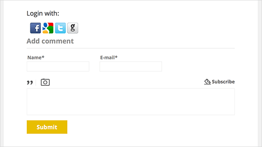 Comments with social login enabled