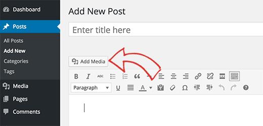 Thêm tệp âm thanh trong bài đăng WordPress bằng trình tải lên phương tiện