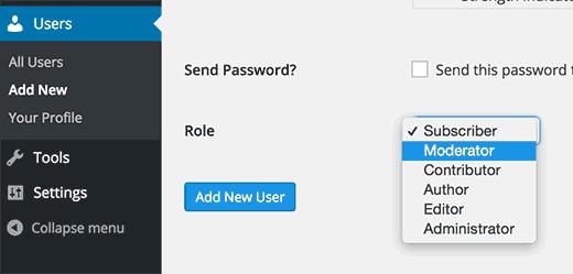 Adding a moderator user role in WordPress