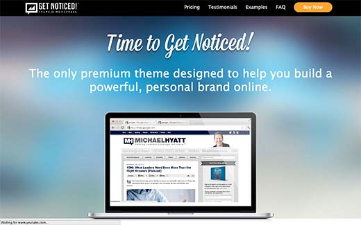 Get Noticed WordPress Theme for Personal Branding