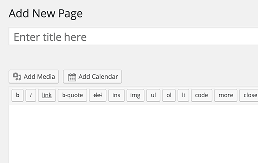 Add calendar button on the post edit screen