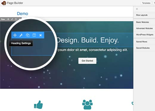 Editing layout in Beaver Builder plugin