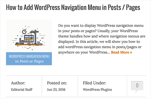 Using excerpts on WordPress homepage and archives