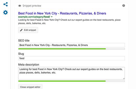 Chỉnh sửa mô tả meta để lưu trữ danh mục trong WordPress