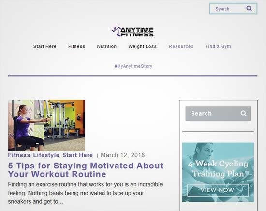 Fitness Blogs