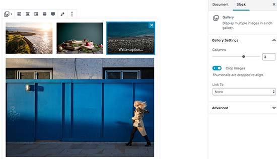 Добавление галереи изображений в новый редактор WordPress