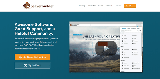 Beaver Builder best WordPress page builder plugin