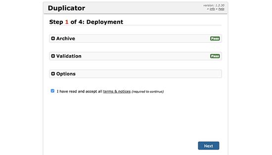 Pemasang duplikator diinisialisasi
