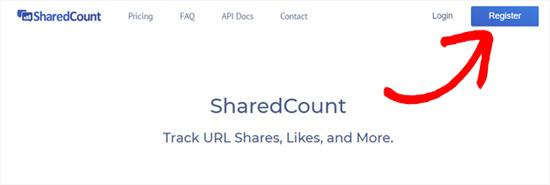 Зарегистрироваться на SharedCounts com