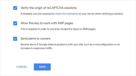 Allow reCAPTCHA to work on AMP Pages