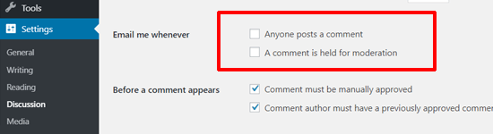 Disable Comment Notification Emails in WordPress