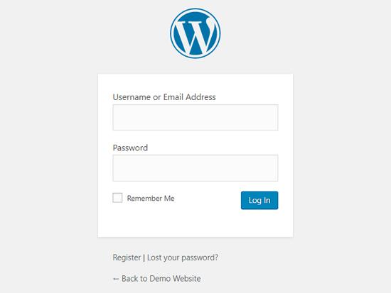 Halaman Login WordPress Default