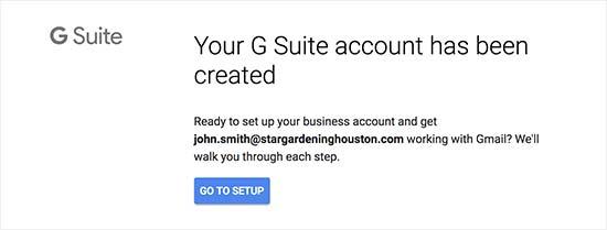 Akun G Suite dibuat