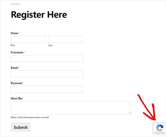 Formulir Pendaftaran Pengguna WordPress Kustom dengan Google reCAPTCHA