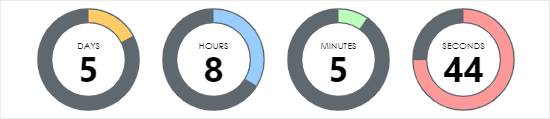 An example timer created using Countdown Builder