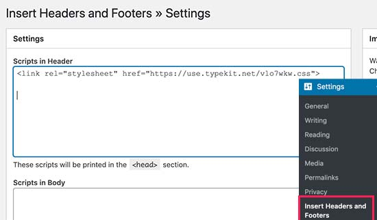 Adding Typekit by Adobe Fonts in WordPress