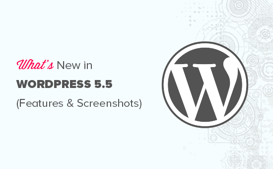 Features and screenshots of WordPress 5.5