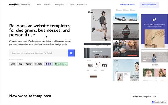 Template webflow