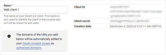 Copying your client ID and client secret