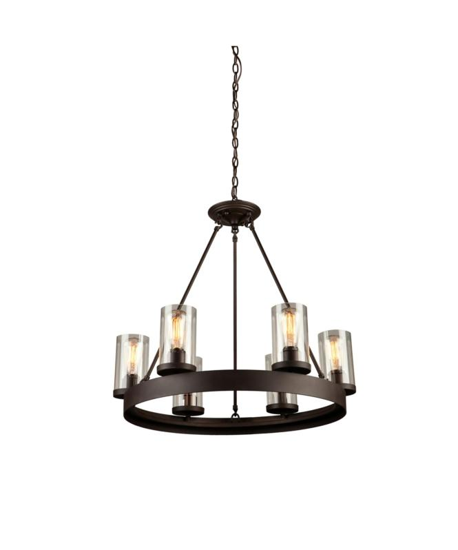 Shown In Dark Chocolate Finish And Clear Glass