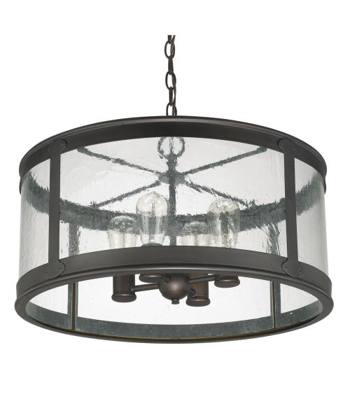 Capital Lighting 9568 Dylan 22 Inch Wide 4 Light Large Pendant     Shown in Old Bronze finish and Antique Clear glass