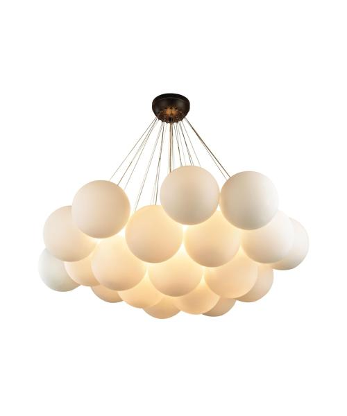 Dimond Lighting 1140 013 Cielo 41 Inch Wide 6 Light Multi Pendant     Shown in Oil Rubbed Bronze finish and Frosted Cloud glass