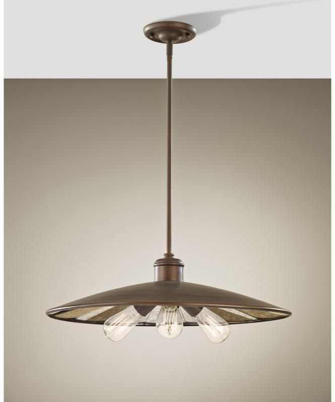 Shown In Astral Bronze Finish And Antique Mirrorglass Glass