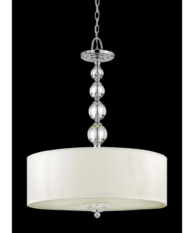 Shown In Polished Chrome Finish And Cream Linen Shade