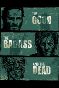 The Good, the BadAss and the Dead The Walking Dead Shirts. Parody Spoof of The Good The Bad and The Ugly