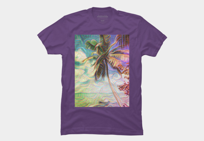 Abstract Rainbow Palm Tree T-Shirt by Christine aks stine1 on Design By Humans