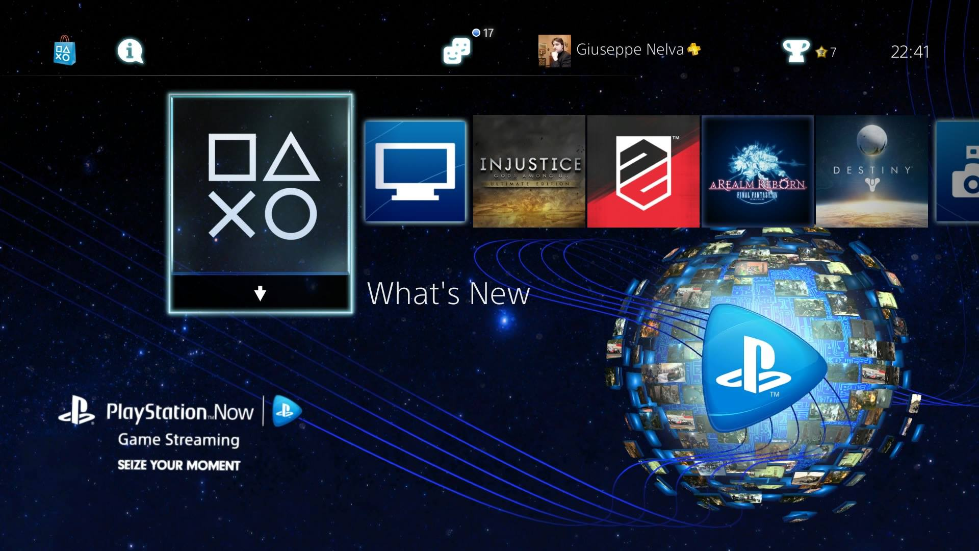 Free PlayStation Now PS4 Dynamic Theme Just Released By Sony On The PSN Screenshots Inside