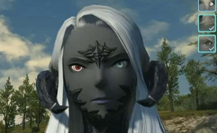 Check Out Final Fantasy XIVs New Races Extensive Character Creation From The Heavensward Expansion