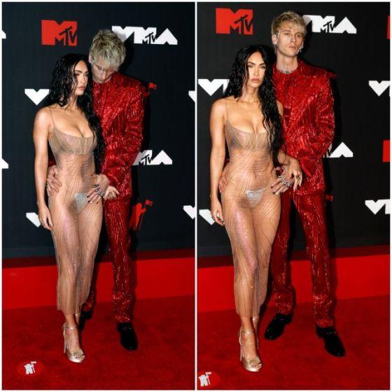 Меган Фокс едва се облече на церемонията по награждаването на MTV (СНИМКИ)