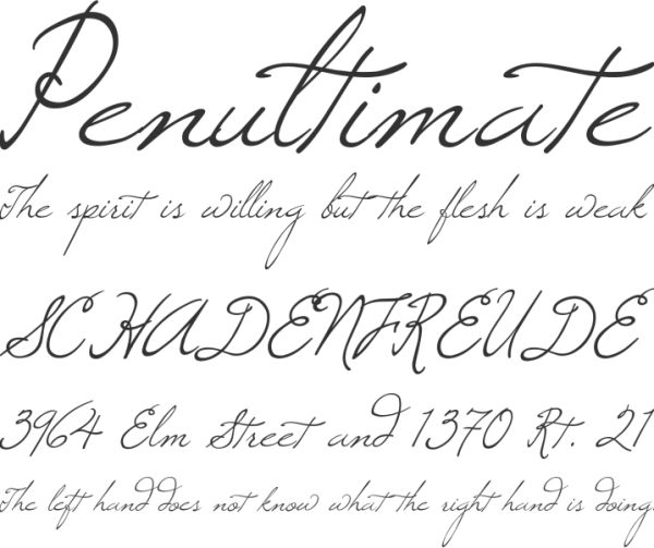 windsong wedding font