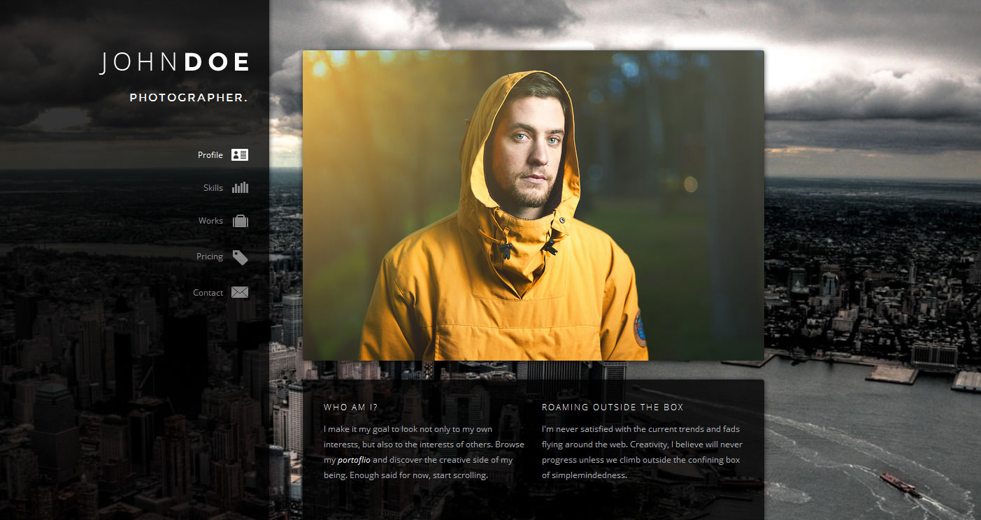 7 Creative Online Cv Resume Template For Web Graphic