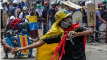 Image result for Violence erupts as controversial Venezuelan Assembly vote looms