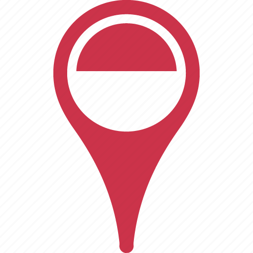 Flag, indonesia, indonesia flag pin, map, pin icon