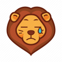 Cry, emoticon, lion, sad icon - Download on Iconfinder