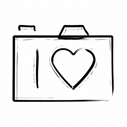 Download Heart, photo camera, romance, romantic icon