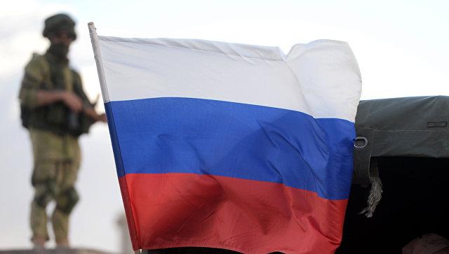 Флаг России в Сирии. Архивное фото