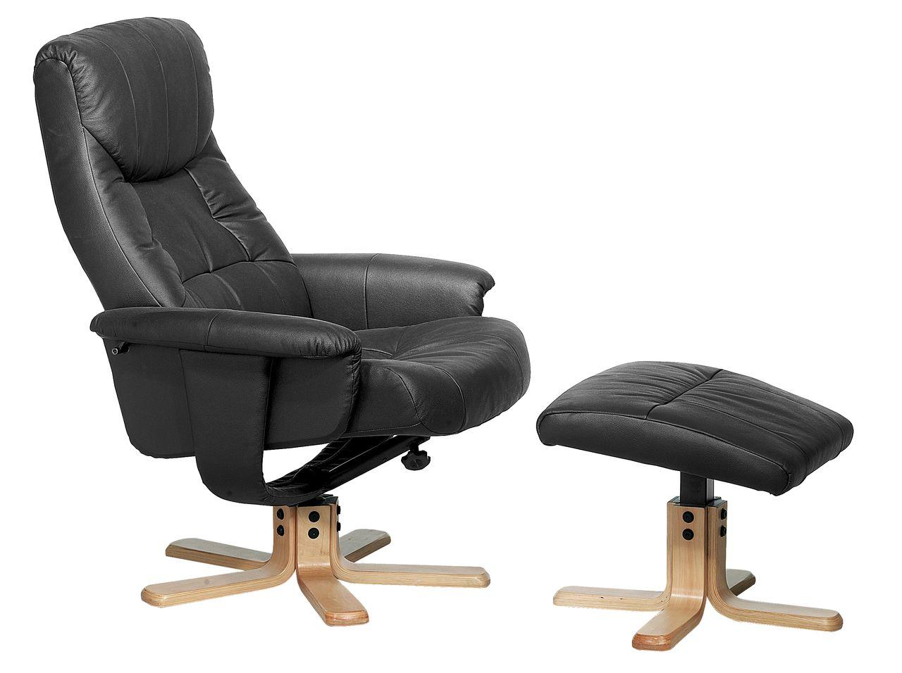 Armchair With Footstool HUNDSLUND Black JYSK