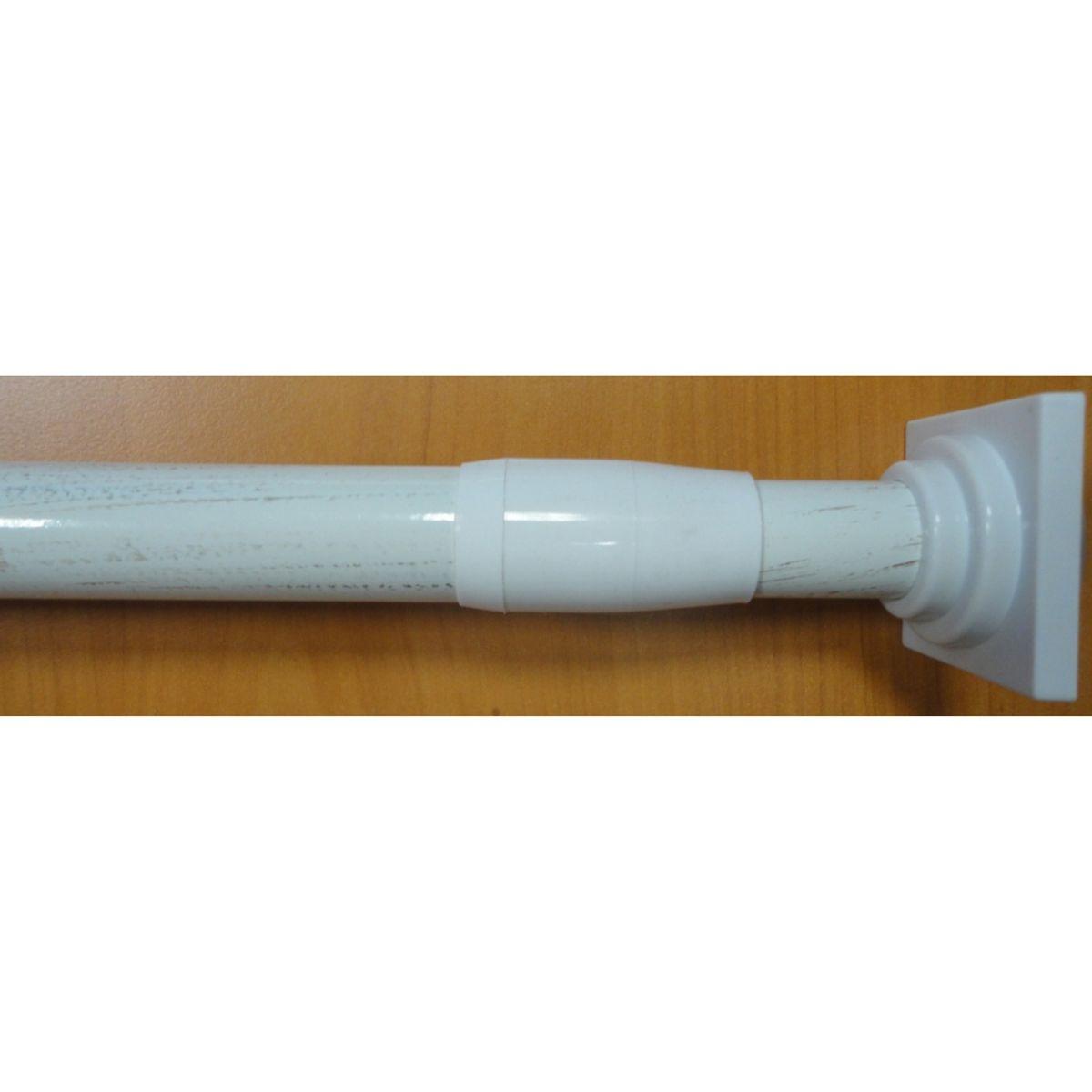 tringle a rideau ext sans percer blanc 70 120 cm