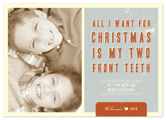 Holiday Photo Cards Two Front Teeth At