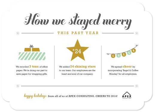 Business Holiday Cards How We Stayed Merry Year In