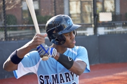 St. Mary's third baseman Albert Estwick